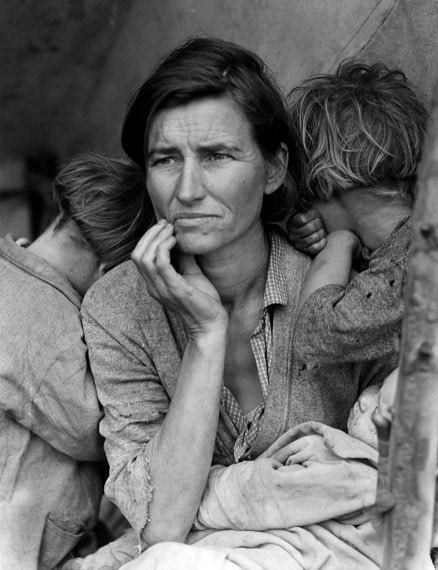 Migrant Mother. Photo by Dorothea Lange