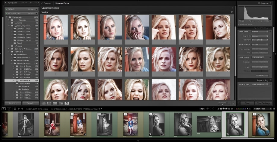 Lightroom CC Face Detection
