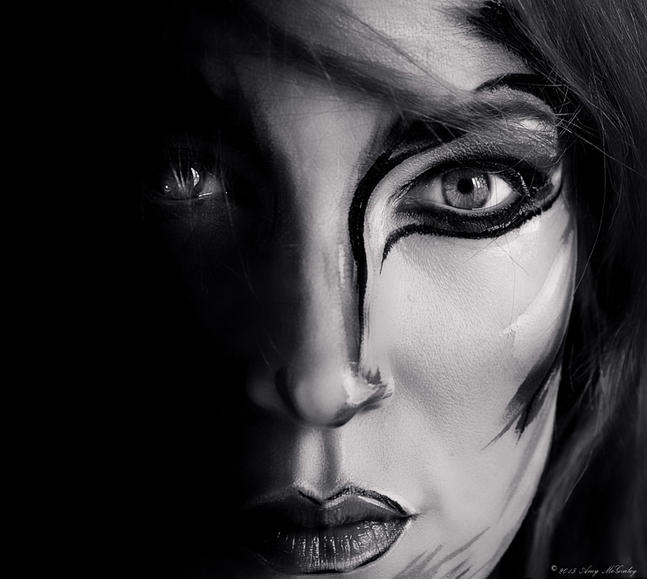 Shadowed Soul, Black and White Portrait