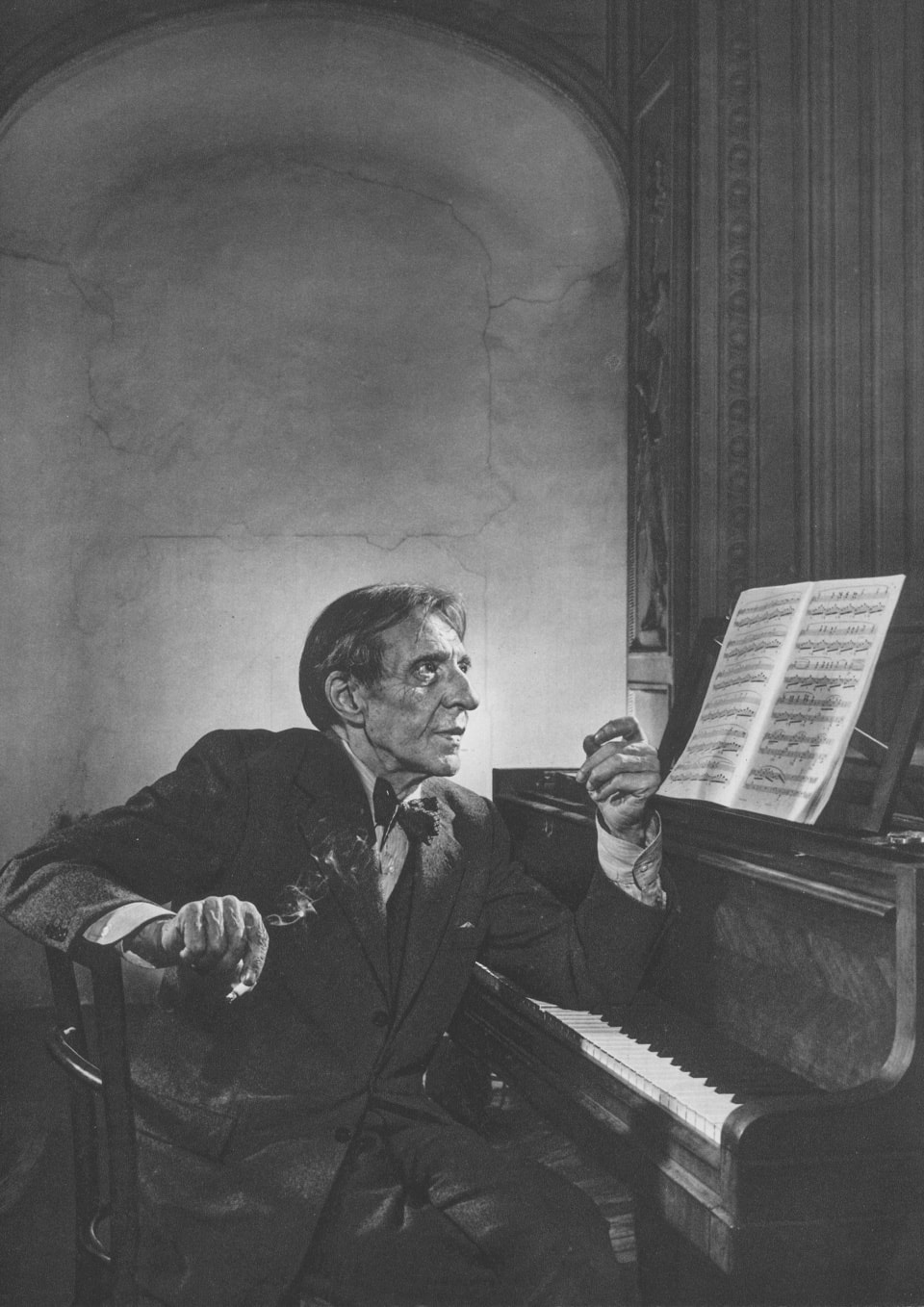 Alfred Cortot by Yousuf Karsh, 1954