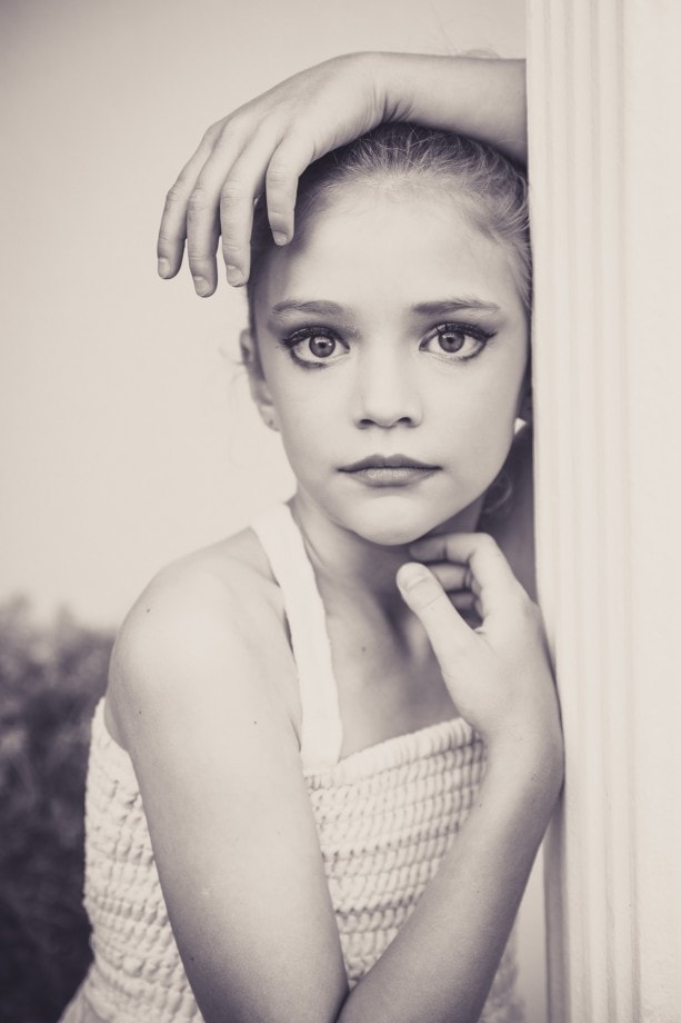 soulful portrait of a girl at ballet