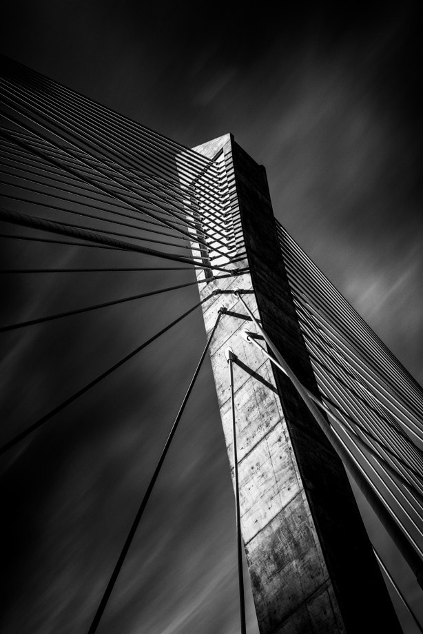 fine art black and white architectural photo