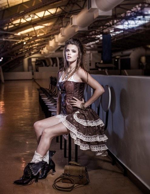 original steampunk portrait of minnette bester