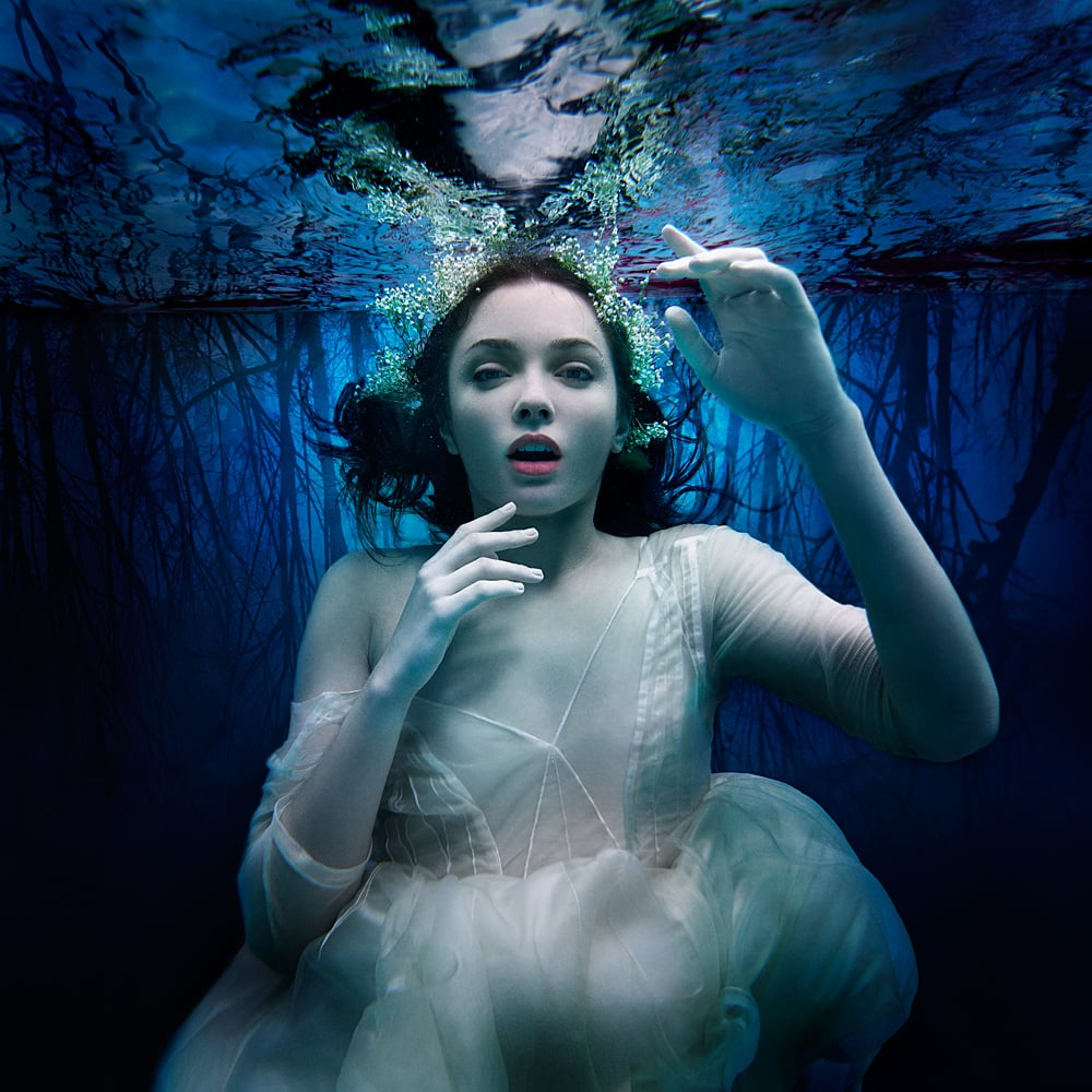 fine art underwater photo representing the barrier consciousness and reality