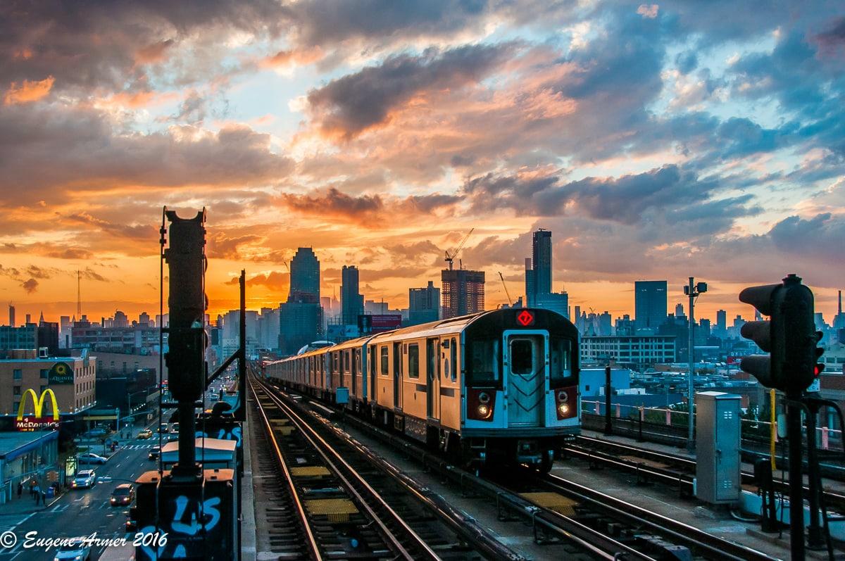 colourful landscape photo of a train